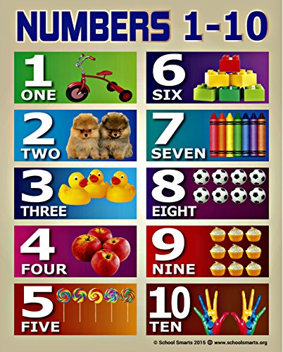 Numbers 1 10 Chart By School Smarts For Babies And