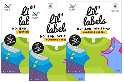 Lil' Labels Clothing Labels, Write On Name, No Iron, Washer
